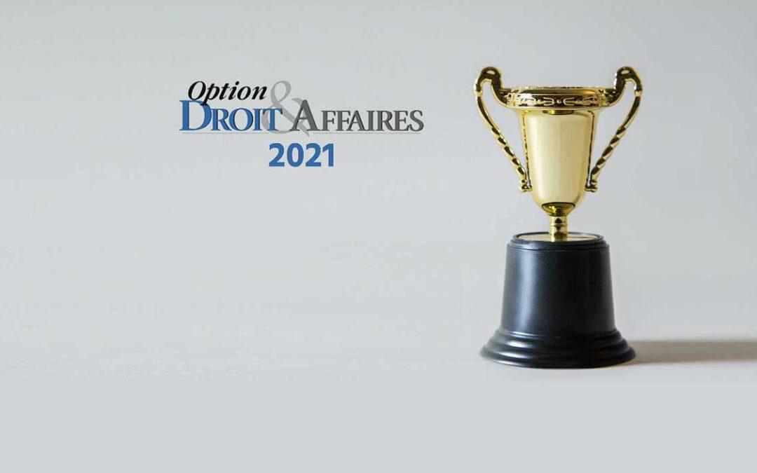 CLASSEMENT 2021 – Option Droit & Affaires